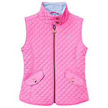 Buy Little Joule Girls' Silvan Quilted Gilet, Pink Online at johnlewis.com