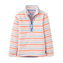Buy Little Joule Girls' Merridie Stripe Fleece, Red/Blue Online at johnlewis.com
