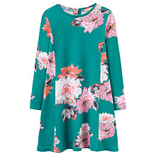 Buy Little Joule Girls' Loralie Floral Dress, Green Online at johnlewis.com