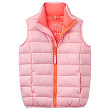 Buy Little Joule Girls' Croft Gilet, Rose Online at johnlewis.com