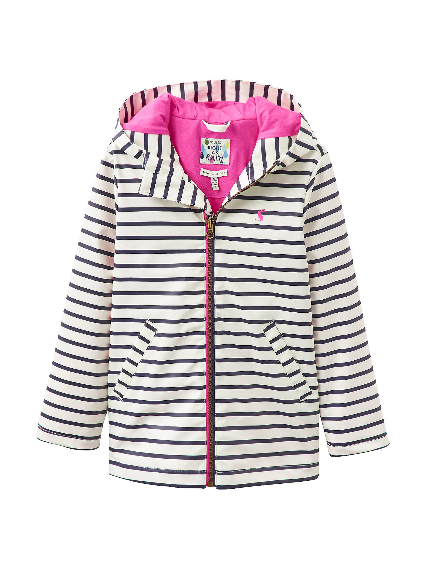 ce18f2e4ddd9 Little Joule Girls  Raindance Striped Waterproof Rain Coat