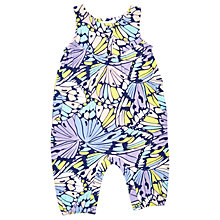 Buy Margherita Kids Baby Butterfly Print Romper, Blue/Multi Online at johnlewis.com
