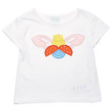 Buy Margherita Kids Baby Bug Applique T-Shirt, White Online at johnlewis.com