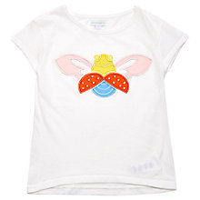Buy Margherita Kids Girls' Bug Applique T-Shirt, White Online at johnlewis.com