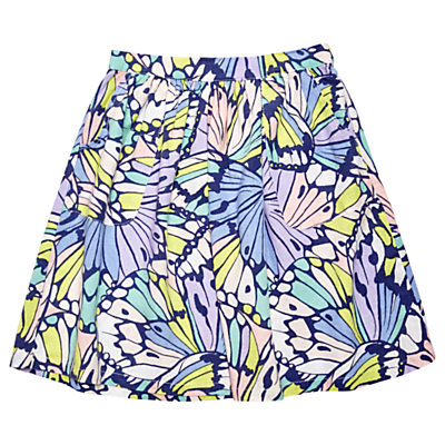 Margherita Kids Girls' Butterfly Print Skirt, Blue
