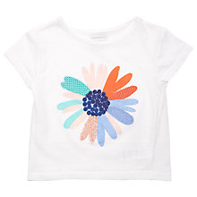 Buy Margherita Kids Baby Flower Print T-Shirt, White Online at johnlewis.com