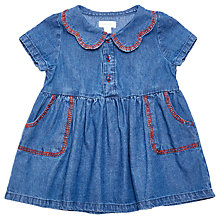 Buy Margherita Kids Baby Chambray Dress, Blue Online at johnlewis.com