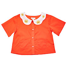 Buy Margherita Kids Girls' Daisy Collar Blouse, Red Online at johnlewis.com