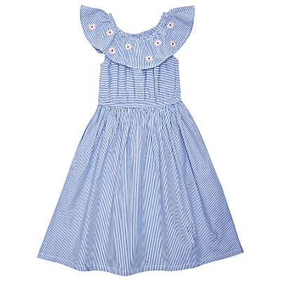 1930s Childrens Fashion: Girls, Boys, Toddler, Baby Costumes Margherita kids Girls Candy Stripe Daisy Dress Blue £40.00 AT vintagedancer.com