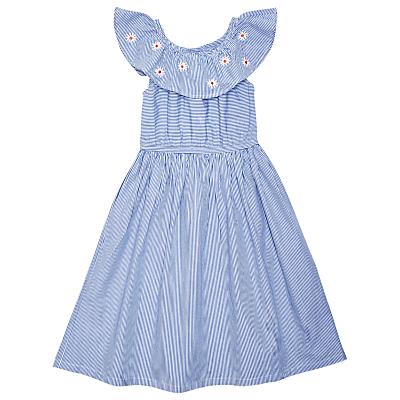 Vintage Style Children's Clothing: Girls, Boys, Baby, Toddler Margherita kids Girls Candy Stripe Daisy Dress Blue £40.00 AT vintagedancer.com
