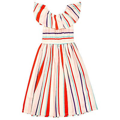 Vintage Style Children's Clothing: Girls, Boys, Baby, Toddler Margherita Kids Girls Yarn Dye Multi Stripe Dress Multi £36.00 AT vintagedancer.com