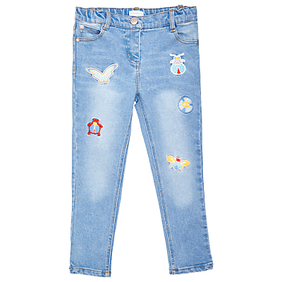 Margherita Kids Girls' Bug Appliqué Skinny Denim Jeans, Blue