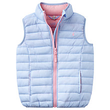 Buy Little Joule Girls' Croft Padded Packaway Gilet, Sky Blue Online at johnlewis.com