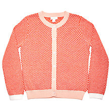Buy Margherita Kids Girls' Button Through Cardigan, Red Online at johnlewis.com