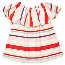 Buy Margherita Kids Girls' Stripe Print Ruffle Top, Multi Online at johnlewis.com
