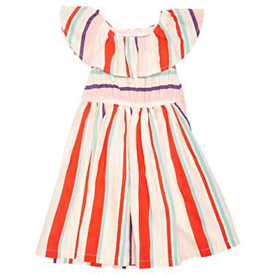 Product photo of Margherita kids baby yarn dye multi stripe dress mutli