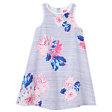 Buy Little Joule Girls' Bunty Floral Dress, Blue Online at johnlewis.com