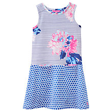 Buy Little Joule Girls' Patsy Half and Half Dress, Blue Online at johnlewis.com