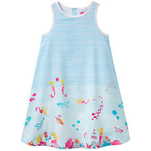 Buy Little Joule Girls' Bunty Sea Print Dress, Blue Online at johnlewis.com
