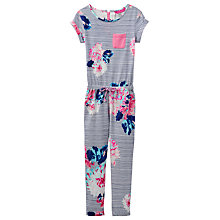 Buy Little Joule Girls' Rosalie Floral Jersey Jumpsuit, Cream/Multi Online at johnlewis.com