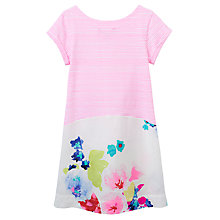 Buy Little Joule Girls' Karolina Stripe Dress, Pink Online at johnlewis.com