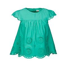 Buy John Lewis Girls' Broderie Woven Top Online at johnlewis.com