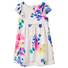 Buy Little Joule Girls' Emeline Floral Dress, White/Multi Online at johnlewis.com