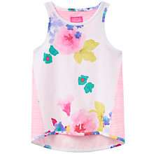 Buy Little Joule Girls' Iris Floral Print Vest, Pink Online at johnlewis.com