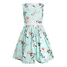 Buy John Lewis Girls' Butterfly Prom Dress, Aqua Online at johnlewis.com