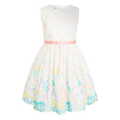 John Lewis Girls' Garden Border Dress, Gardenia
