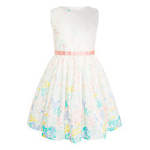 Buy John Lewis Girls' Garden Border Dress, Gardenia Online at johnlewis.com
