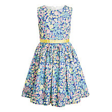 Buy John Lewis Girls' Vintage Floral Dress, Blue/Multi Online at johnlewis.com