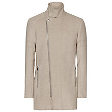 Buy Reiss Atmosphere Funnel Collar Coat, Oatmeal Online at johnlewis.com