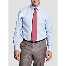 Buy Thomas Pink Hobson Textured Classic Fit XL Sleeve Shirt, Pale Blue/White Online at johnlewis.com