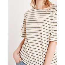 Buy AND/OR Ruffle Sleeve Striped Top Online at johnlewis.com