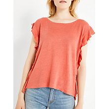 Buy AND/OR Double Frill Linen Top Online at johnlewis.com