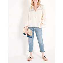 Buy AND/OR Becca Shirt, Cream Online at johnlewis.com