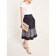 Buy AND/OR Frieda Embroidery Skirt, Ink Blue Online at johnlewis.com