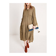 Buy AND/OR Midi Sienna Dress, Khaki Online at johnlewis.com
