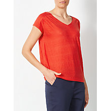 Buy John Lewis Linen Gathered Top Online at johnlewis.com
