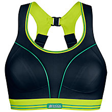 Buy Shock Absorber Ultimate Run Non-Wired Sports Bra, Black/Lime Online at johnlewis.com