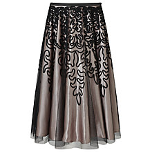 Buy Jacques Vert Cornelli Skirt, Black/Multi Online at johnlewis.com