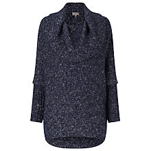 Buy Phase Eight Lila Fleck Cowl Jumper, Navy Online at johnlewis.com