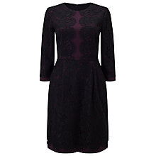 Buy Phase Eight Loretta Lace Dress. Aubergine/Black Online at johnlewis.com