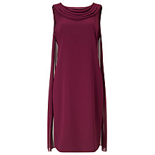 Buy Jacques Vert Drape Cape Dress, Dark Red Online at johnlewis.com