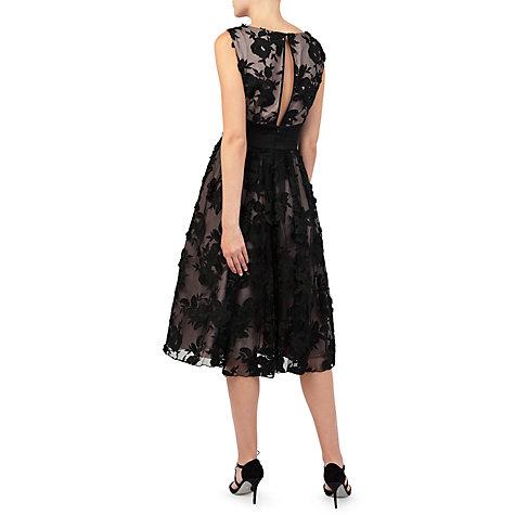 Jacques vert black applique dress