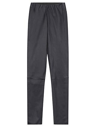 Gerard Darel Halo Leather Trousers, Midnight Blue