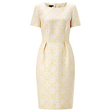 Buy Bruce by Bruce Oldfield Metallic Jacquard Dress, Yellow Online at johnlewis.com