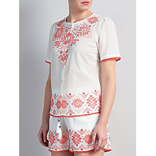 Buy Somerset by Alice Temperley Embroidered Top, White Mix Online at johnlewis.com