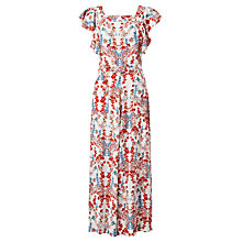 Buy Somerset by Alice Temperley Printed Boatneck Jumpsuit, Cream Online at johnlewis.com